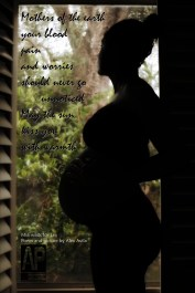 Pregnant mother's silhouette photo shoot Pregnant mothers Black poem Mia waits for Lex Poem and picture by Alex Avila Avila Production