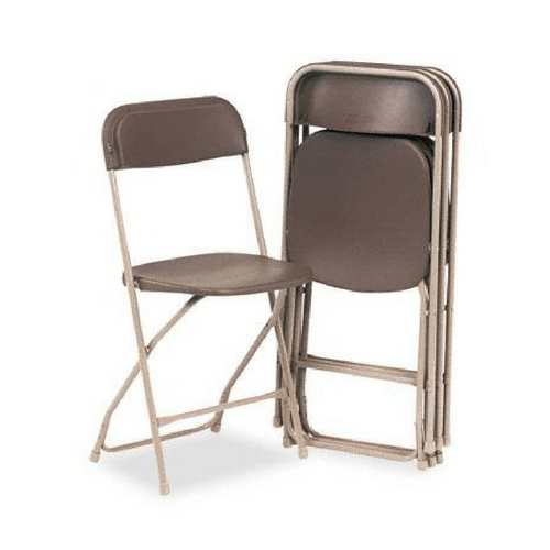PLASTIC FOLDING CHAIR BROWN