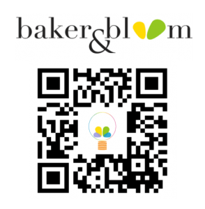 baker and bloom logo and qr code to site (new) ~ Avi Megiddo