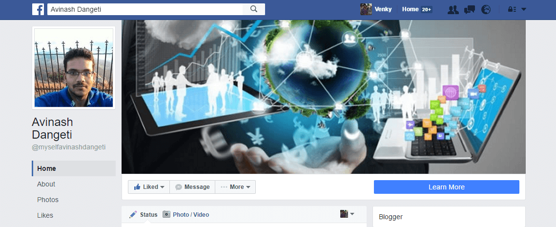 Avinash-Dangeti-Digital-Marketing-Facebook-Page-Update Page