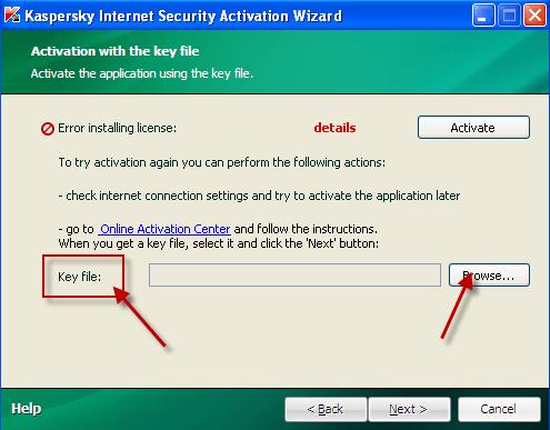 Activate Kaspersky keyfile
