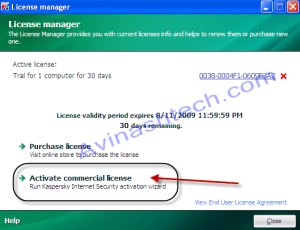 Kaspersky Activate license