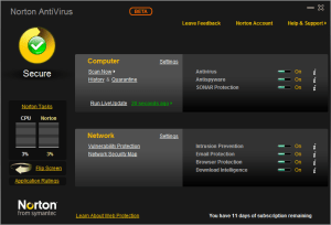 Norton interface