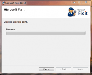 Microsoft fixit install