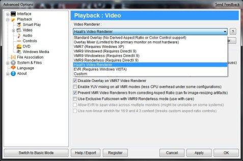 Zoom Player settings