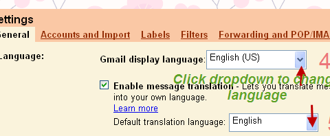 Enable Gmail translation 1