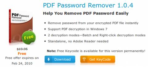 Grab PDF Password Remover (Worth $19.95)for FREE 2