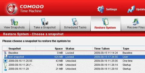 Backup and Restore your System With Comodo Time Machine 3