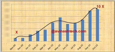 Avinashtech 1 Year Growth, Traffic and Revenue 4