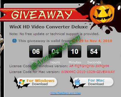 Grab Free WinX HD Video Converter Deluxe for Windows, Mac 4