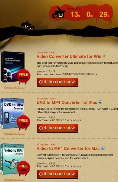 Grab Wondershare Video Convertor Ultimate, MP4 Convertor License for Free 2