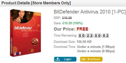 free Bitdefender license
