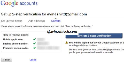 How to set up 2-step verification process for your Google Account 7