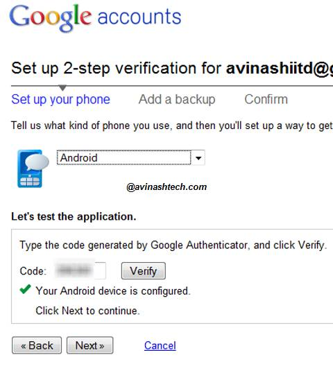 How to set up 2-step verification process for your Google Account 4