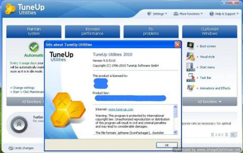 Download TuneUp Utilities 2010 with genuine license key for Free 4
