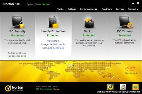 [Review]: Norton 360 v5, PC security suite with Backup and tuneup 2