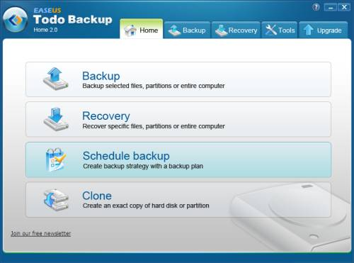 Review: EASEUS Todo Backup Home to backup files, drives or partitions 1