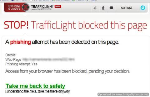 Trafficlight: Secure your browser from Viruses, Phishing and Spam Advertisements 6