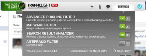 Trafficlight: Secure your browser from Viruses, Phishing and Spam Advertisements 5