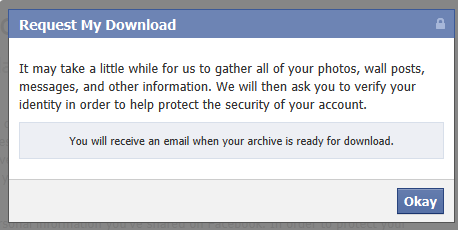 How to download Facebook photos, videos, posts, messages, friend list and other data 4