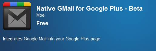 How to add Gmail inside Google+ plus bar using chrome a extension 1