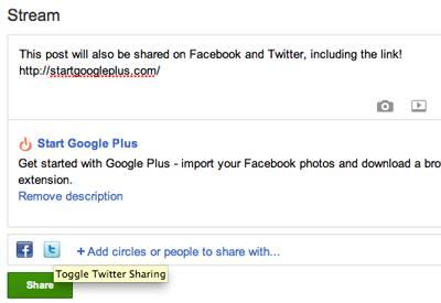 Google+ twitter facebook