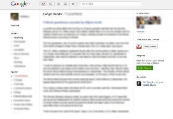 Add Google Reader and Share option inside Google+ [Chrome Extension] 2