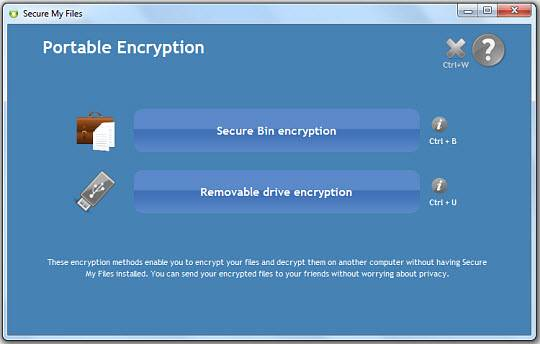 portable - [Giveaway+ Review] Encrypt and Secure Files, Folders, Removable Disks with Secure My Files
