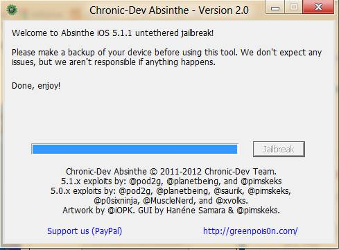 How to Jailbreak iOS 5.1.1 (untethered) on iPhone 4S, iPad 2,3, iPod touch with Absinthe 2.0 5