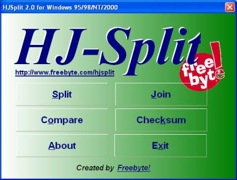 Split and join files of any type or size easily with HJSplit
