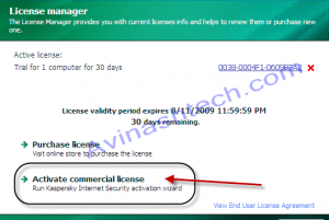 Kaspersky removes license activation by keyfile with 2010 versions 7