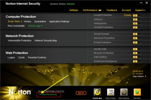 NIS 2011 beta 480x320 - [Review]: Norton Internet security NIS 2011 beta with download links