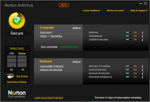 Norton AntiVirus 2010 Beta Review and direct download link