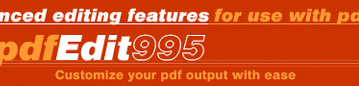 PDFedit995 - How to edit PDF files and Documents with PDFedit995