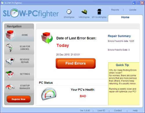 SLOW PCfighter1 - ABC 21:Optimize your PC with SLOW-PCfighter and license Giveaway