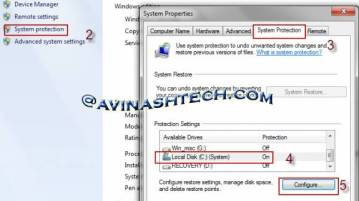 System restore - How to delete system restore files to gain hard disk space