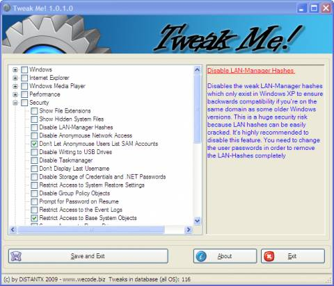 Tweak Windows XP, Vista and Windows 7 easily with Tweak Me