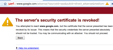 Chrome says Google Security certificate is revoked [solved]
