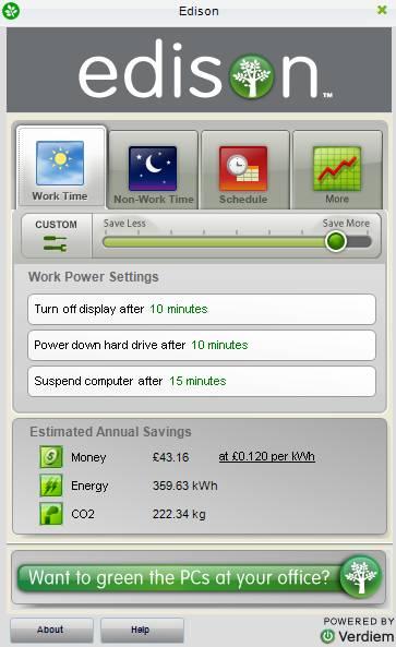 edison - Verdiem's Edison: Free Power Management Software for your PC
