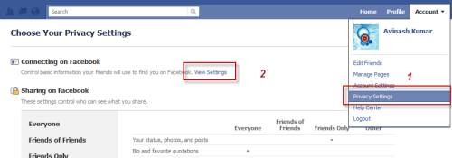 facebook privacy - Control basic personal information you share on Facebook