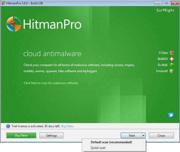 HitmanPro, On-Demand Multi-Antivirus Cloud Scanner [Giveaway]