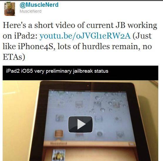 iPad2 iOS5 jailbreak coming Soon [Working Video]