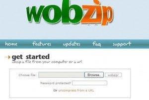 Unzip files online with Wobzip 3