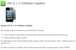 Apple iOS 6.1.3 update fixes lock-screen flaw, Jailbreakers should stay away 8