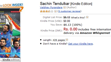Grab Sachin Tendulkar [Kindle Edition] for free 1