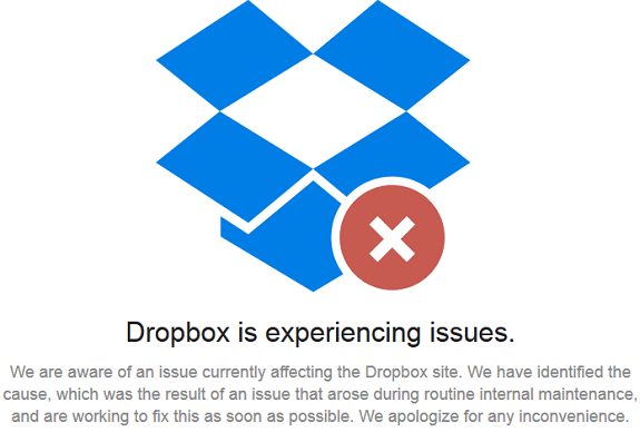 Dropbox Down
