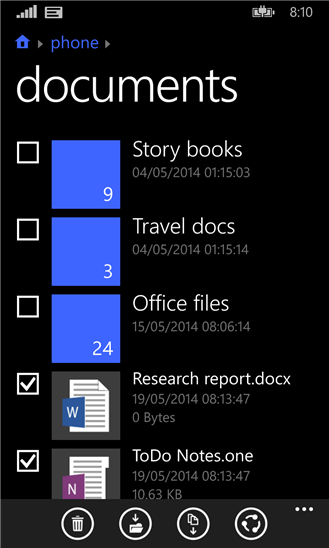Windows Phone File Manager - File Manager for Windows Phone 8.1 launched by Microsoft
