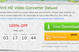 Giveaway : WinX HD Video Converter Deluxe unlimited license key 5