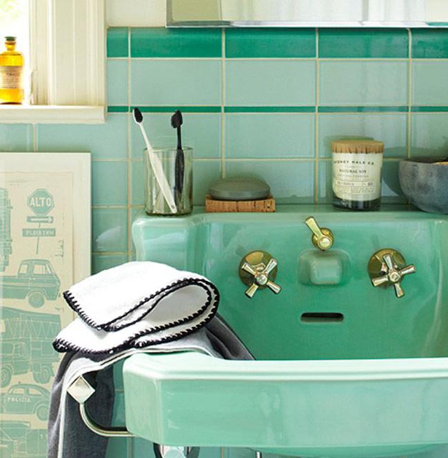 My Favorite Mint Green Bathrooms  A Vintage Splendor