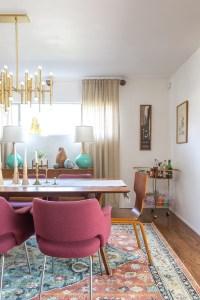 Mid Century Bohemian Living Room